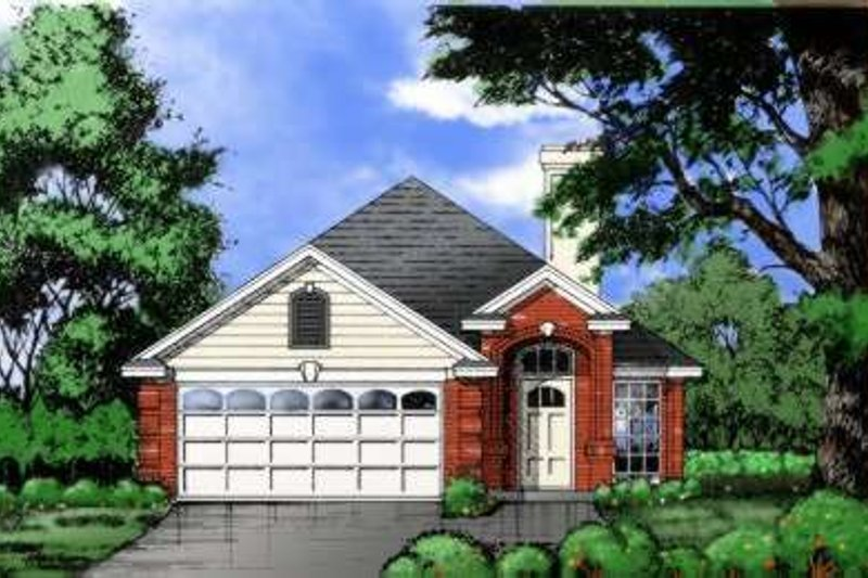 Traditional Exterior - Front Elevation Plan #40-108 - Houseplans.com