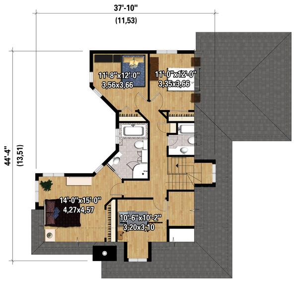 Cottage Floor Plan - Upper Floor Plan Plan #25-4485