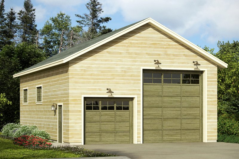 Traditional Style House Plan - 0 Beds 0 Baths 1232 Sq/Ft Plan #124-1055 Exterior - Front Elevation