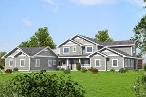 Dream House Plan - Craftsman Exterior - Front Elevation Plan #117-879