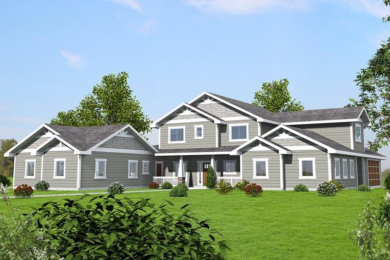 Home Plan - Craftsman Exterior - Front Elevation Plan #117-879