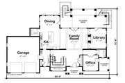 Colonial Style House Plan - 4 Beds 4.5 Baths 4352 Sq/Ft Plan #20-2442 Floor Plan - Main Floor