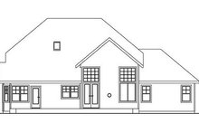 Craftsman Exterior - Rear Elevation Plan #124-567