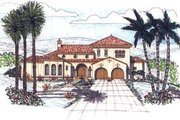 Mediterranean Style House Plan - 3 Beds 2.5 Baths 3012 Sq/Ft Plan #76-112
