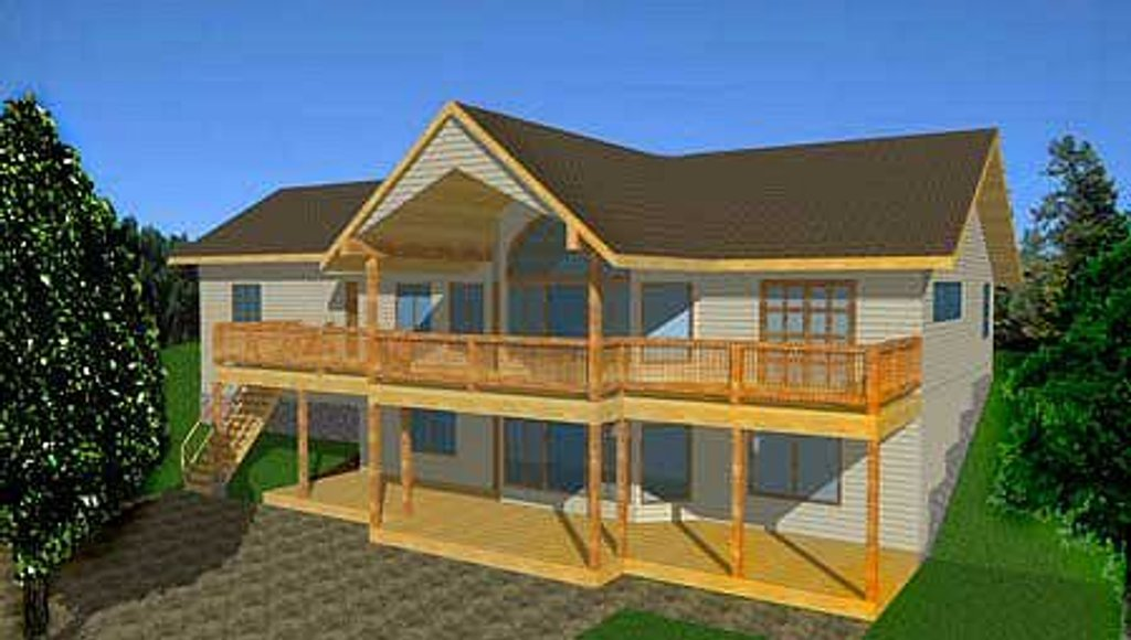Traditional style house plan 4 beds 3 baths 2544 sq ft for Country house plans with walkout basement