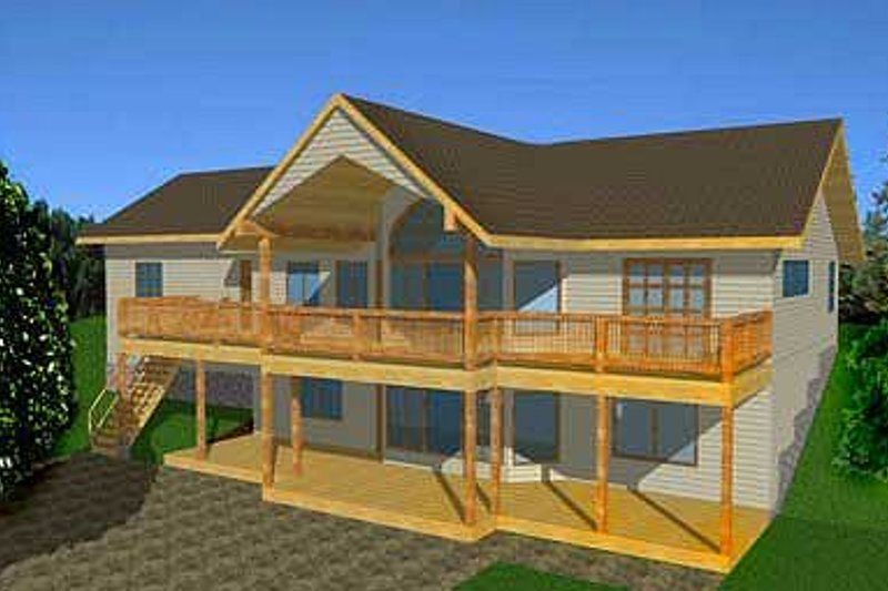 Traditional Exterior - Front Elevation Plan #117-234 - Houseplans.com