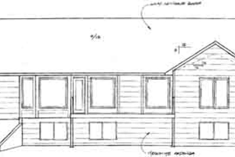 Ranch Exterior - Rear Elevation Plan #58-181 - Houseplans.com