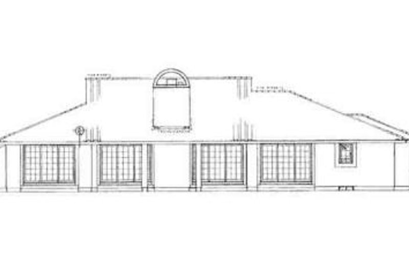 Adobe / Southwestern Exterior - Rear Elevation Plan #72-210 - Houseplans.com