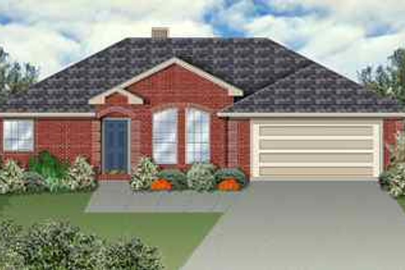 Traditional Exterior - Front Elevation Plan #84-110 - Houseplans.com