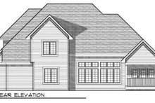 European Exterior - Rear Elevation Plan #70-731