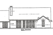 Country Style House Plan - 3 Beds 2 Baths 1823 Sq/Ft Plan #42-248 Exterior - Rear Elevation