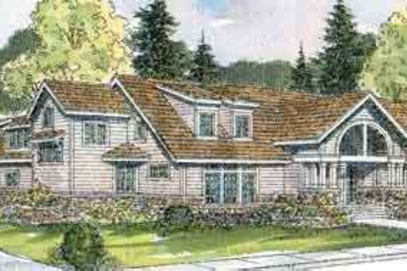 Ranch Exterior - Front Elevation Plan #124-521