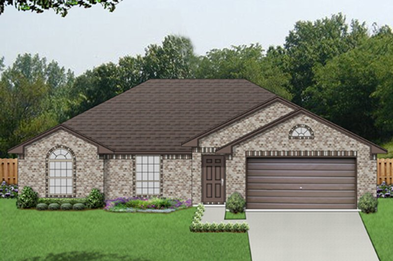 Ranch Style House Plan - 3 Beds 2 Baths 1588 Sq/Ft Plan #84-548 Exterior - Front Elevation