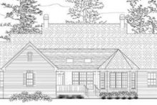 House Plan Design - Southern Exterior - Rear Elevation Plan #406-101