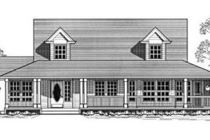 Country Exterior - Front Elevation Plan #53-354