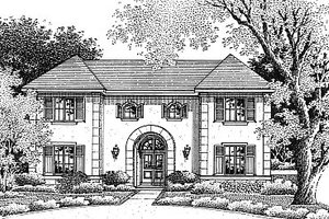 House Plan Design - Mediterranean Exterior - Front Elevation Plan #14-208