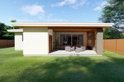 Contemporary Style House Plan - 3 Beds 2 Baths 1621 Sq/Ft Plan #126-212 Exterior - Rear Elevation