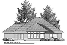 Craftsman Exterior - Rear Elevation Plan #70-909