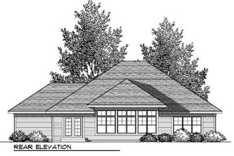 Craftsman Exterior - Rear Elevation Plan #70-909 - Houseplans.com