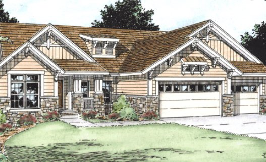 Bungalow Exterior - Front Elevation Plan #20-1719 - Houseplans.com