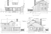 Cottage Style House Plan - 3 Beds 2 Baths 1573 Sq/Ft Plan #47-103 Exterior - Rear Elevation
