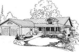 Traditional Exterior - Front Elevation Plan #60-596