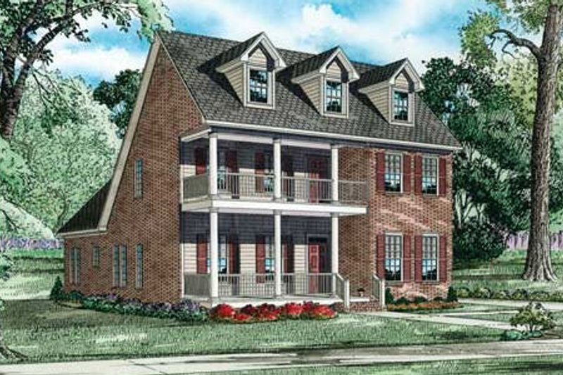 Dream House Plan - Colonial Exterior - Front Elevation Plan #17-2364