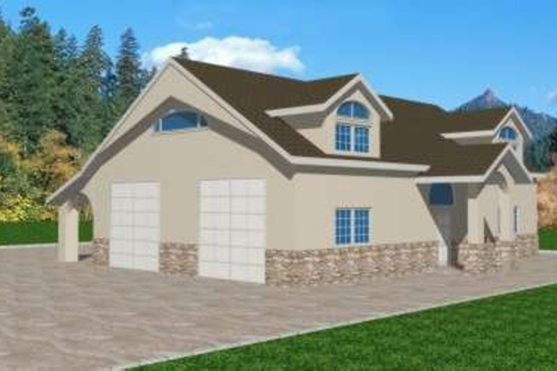 Traditional Exterior - Front Elevation Plan #117-326 - Houseplans.com