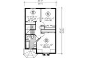 Victorian Style House Plan - 3 Beds 1.5 Baths 1747 Sq/Ft Plan #25-4228 Floor Plan - Upper Floor Plan