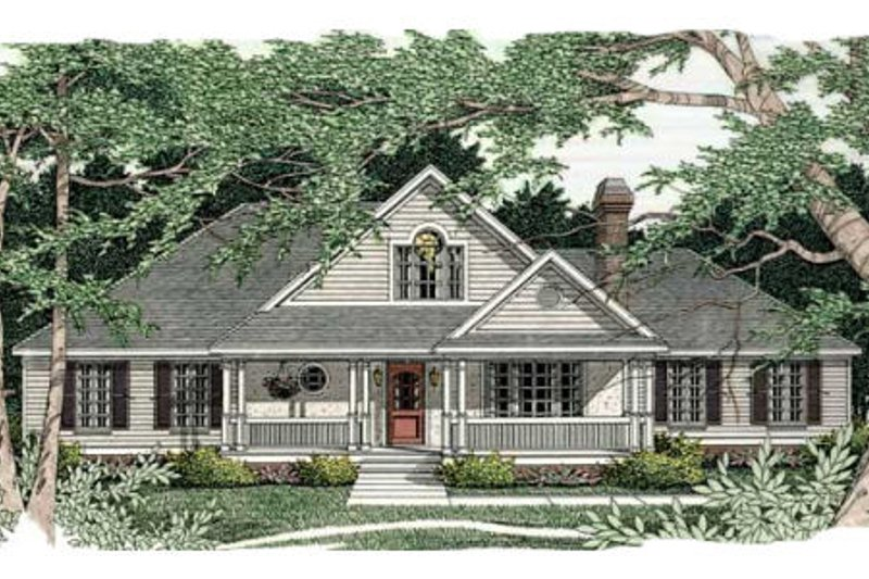 Southern Exterior - Front Elevation Plan #406-166 - Houseplans.com