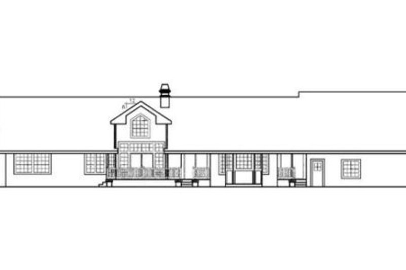 Ranch Exterior - Rear Elevation Plan #60-296 - Houseplans.com