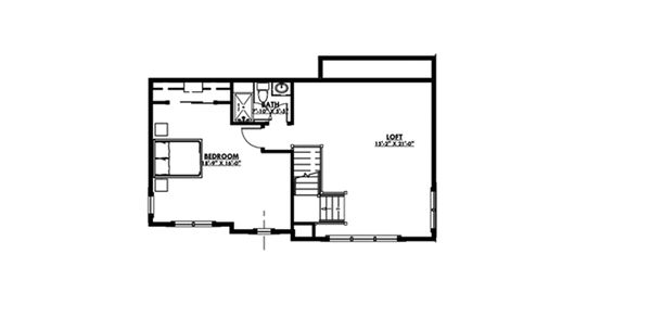 Craftsman Floor Plan - Upper Floor Plan Plan #1069-12