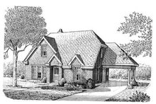 Cottage Exterior - Front Elevation Plan #410-309