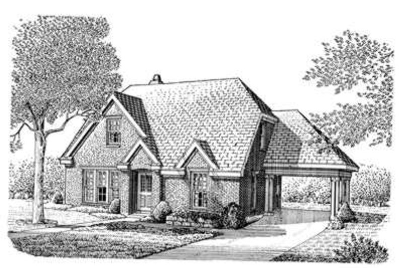 Cottage Exterior - Front Elevation Plan #410-309