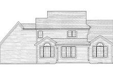 Craftsman Exterior - Rear Elevation Plan #46-429