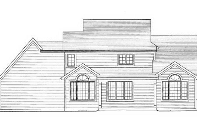 Craftsman Exterior - Rear Elevation Plan #46-429 - Houseplans.com