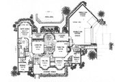 Traditional Style House Plan - 4 Beds 3 Baths 2529 Sq/Ft Plan #310-619 Floor Plan - Main Floor
