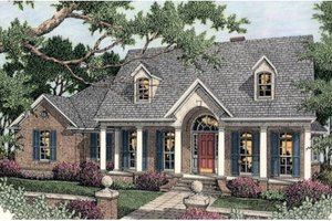 Southern Exterior - Front Elevation Plan #406-102