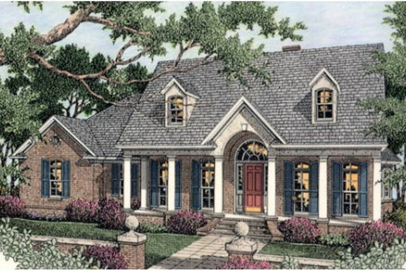 Southern Exterior - Front Elevation Plan #406-102 - Houseplans.com