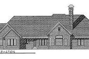 European Style House Plan - 3 Beds 2.5 Baths 2991 Sq/Ft Plan #70-468 Exterior - Rear Elevation