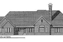 Dream House Plan - European Exterior - Rear Elevation Plan #70-468