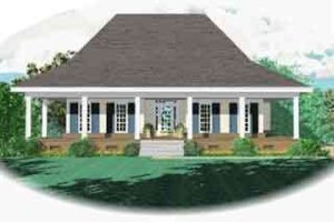Southern Exterior - Front Elevation Plan #81-545