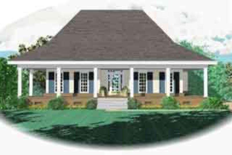 Southern Style House Plan - 3 Beds 2 Baths 1800 Sq/Ft Plan #81-545