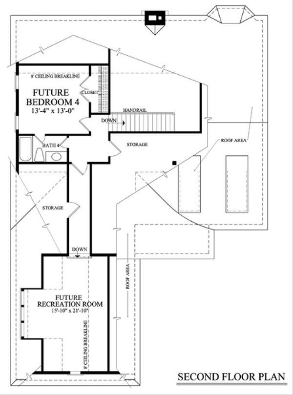Cottage Floor Plan - Upper Floor Plan Plan #137-260