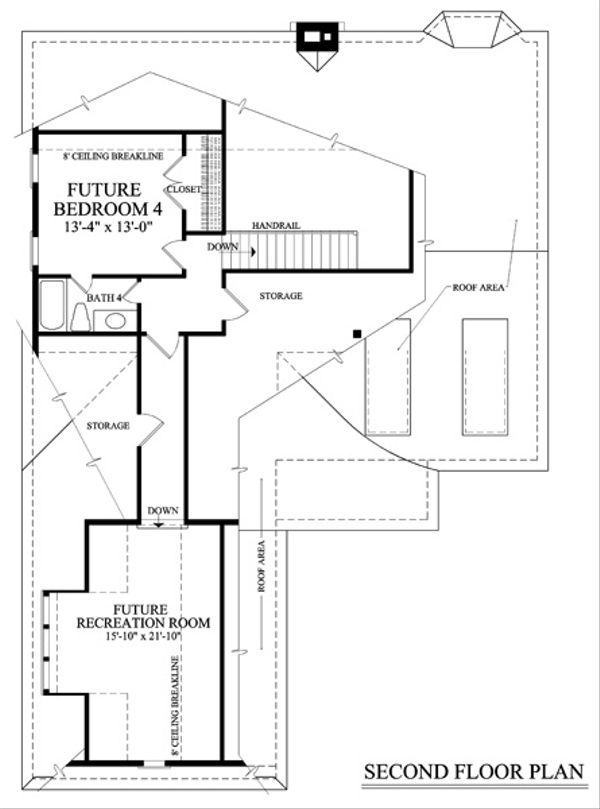 Cottage Floor Plan - Upper Floor Plan #137-260