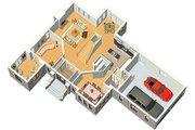 European Style House Plan - 4 Beds 2.5 Baths 2944 Sq/Ft Plan #25-224 Photo