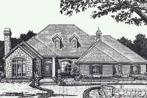 Colonial Exterior - Front Elevation Plan #310-888