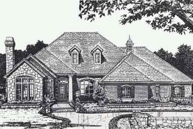 Colonial Style House Plan - 3 Beds 2.5 Baths 2740 Sq/Ft Plan #310-888 Exterior - Front Elevation