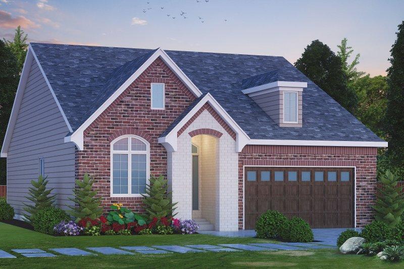 Architectural House Design - European Exterior - Front Elevation Plan #20-2409