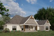 European Style House Plan - 3 Beds 2 Baths 2085 Sq/Ft Plan #923-180 Exterior - Rear Elevation